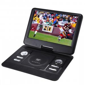14.5 pouces écran TFT LCD multimédia numérique DVD portable avec lecteur de carte et port USB, TV de soutien (PAL / NTSC / SECAM) et fonction de jeu, rotation de 270 degrés, carte SD / MS / MMC de soutien (noir) SH1075573-20