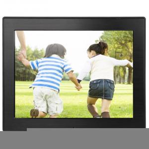 Cadre photo numérique multimédia à affichage LED de 8 pouces avec support et lecteur de musique et lecteur de film, prise en charge de la carte USB / SD / SDHC / MMC (noir) SH213B53-20
