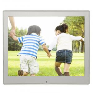 Cadre photo numérique multimédia avec écran LED de 8 pouces avec support et lecteur de musique et lecteur de film, prise en charge de la carte USB / SD / SDHC / MMC (argent) SH213S801-20