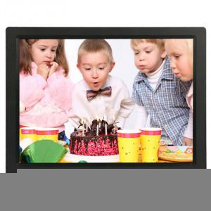 Cadre photo numérique multimédia à affichage LED de 14 pouces avec support et lecteur de musique et vidéo, prise en charge de la carte USB / SD / MS / MMC (noir) SH301B151-20