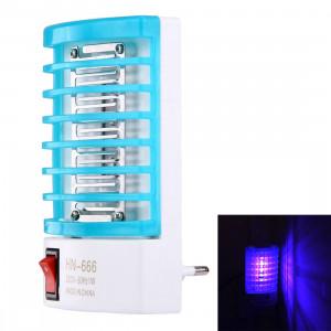 1W efficace 4-LED Mosquito Killer lampe de nuit, prise de l'UE, AC 220V (bleu) S10205369-20