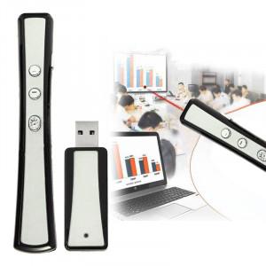 VIBOTON PP900 2.4GHz Présentation Multimédia Télécommande PowerPoint Clicker Flip Stylo avec Récepteur USB, Distance de Contrôle: 25m (Argent) SV1133834-20