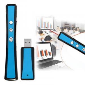 VIBOTON PP900 2.4GHz Présentation Multimédia Télécommande PowerPoint Clicker Clavier Flip avec récepteur USB, Distance de Contrôle: 25m (Bleu) SV133L959-20