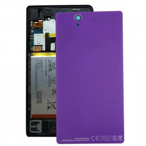 Couverture arrière de batterie de rechange en aluminium pour Sony Xperia Z / L36h (violet) SC01361283-20