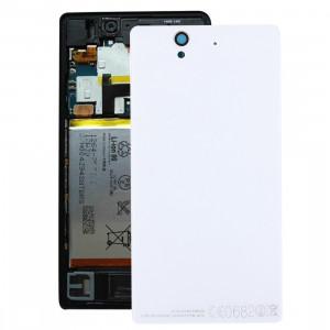 Couverture arrière de batterie de rechange en aluminium pour Sony Xperia Z / L36h (blanc) SC136W1453-20