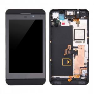 iPartsBuy LCD Écran + Écran Tactile Digitizer Assemblée avec Cadre pour BlackBerry Z10 4G (Noir) SI542B1179-20