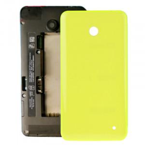 iPartsAcheter pour Nokia Lumia 635 boîtier couvercle arrière de la batterie + bouton latéral (jaune) SI318Y1570-20