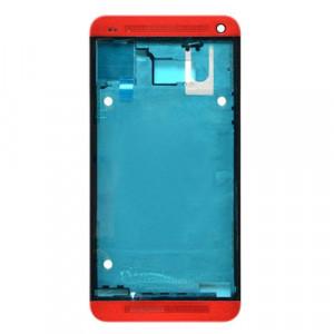 iPartsBuy Avant Logement LCD Cadre Lunette de remplacement pour HTC One M7 / 801e (Rouge) SI043R1377-20