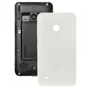 Couverture arrière de batterie en plastique de couleur unie pour Nokia Lumia 530 (blanc) SC589W735-20