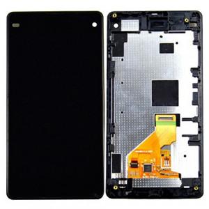 iPartsBuy LCD Affichage + Écran Tactile Digitizer Assemblée avec Cadre de Remplacement pour Sony Xperia Z1 Compact (Noir) SI028B546-20