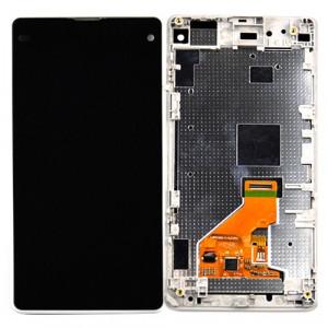 iPartsBuy LCD Affichage + Écran Tactile Digitizer Assemblée avec Cadre de Remplacement pour Sony Xperia Z1 Compact (Blanc) SI028W1122-20