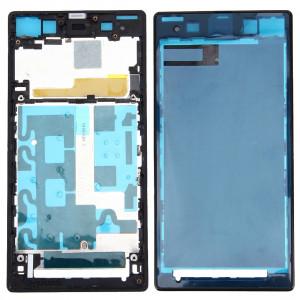iPartsBuy Avant Logement LCD Cadre Bezel Plaque de Remplacement pour Sony Xperia Z1 / C6902 / L39h / C6903 / C6906 / C6943 (Noir) SI063B1822-20