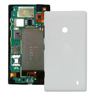 Couverture de boîtier arrière en plastique pour Nokia Lumia 520 (Blanc) SC050W398-20