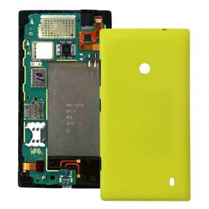 iPartsAcheter pour Nokia Lumia 520 couvercle du boîtier arrière en plastique (jaune) SI050Y615-20