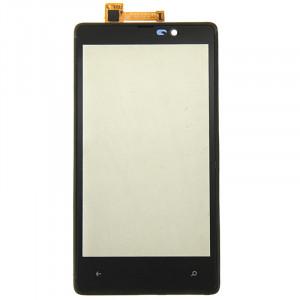 iPartsBuy Écran Tactile avec Cadre pour Nokia Lumia 820 (Noir) SI001B912-20