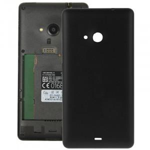 Remplacement de couverture de logement arrière en plastique givré de surface pour Microsoft Lumia 535 (noir) SR055B1292-20