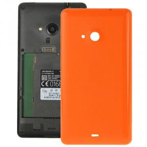 Remplacement lisse de couverture de logement arrière en plastique lisse pour Microsoft Lumia 535 (orange) SR055E1206-20