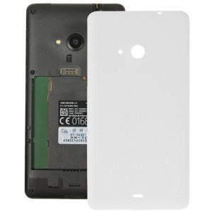 Remplacement de couverture de logement arrière en plastique givré de surface pour Microsoft Lumia 535 (blanc) SR055W256-20
