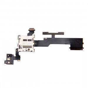Bouton de contrôle du volume iPartsBuy et fente pour carte mémoire SD Remplacement du câble Flex pour HTC One M8 SB8001990-20