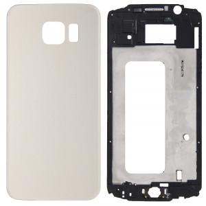 iPartsBuy Remplacement complet de la couverture du boîtier (boîtier avant LCD Cadre lunette + remplacement de la couverture arrière de la batterie) pour Samsung Galaxy S6 / G920F (Gold) SI183J111-20
