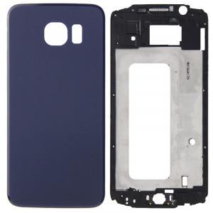 iPartsBuy Remplacement complet de la couverture du boîtier (boîtier avant LCD cadre lunette + remplacement de la couverture arrière de la batterie) pour Samsung Galaxy S6 / G920F (bleu) SI183L724-20