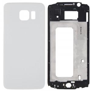 iPartsBuy Remplacement complet de la couverture du boîtier (boîtier avant de l'écran LCD cadre lunette + remplacement de la couverture arrière de la batterie) pour Samsung Galaxy S6 / G920F (blanc) SI183W1412-20