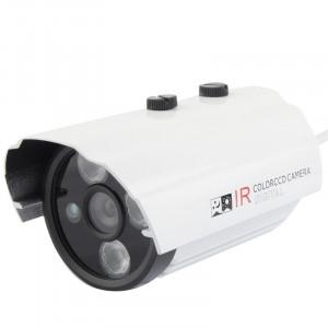 Caméra infrarouge de couleur de matériel en métal de lentille en métal de lentille de CMOS 420TVL 6mm avec 3 LED, distance d'IR: 20m SH02861644-20