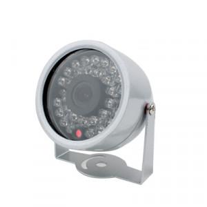 1/3 CMOS Couleur 380TVL 30 LED Mini Caméra Etanche (Argent) SH07161385-20