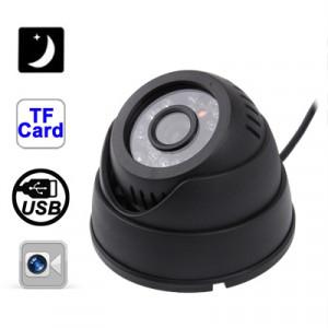 Caméra dôme DVR de sécurité à la maison de vision nocturne de détection de mouvement d'USB avec l'emplacement de carte de TF, enregistrement de boucle de soutien / enregistrement simultané / ajustement SH0719488-20