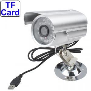 Caméra enregistreur vidéo numérique avec fente pour carte TF, enregistrement sonore de support / vision nocturne / fonction de détection de mouvement, distance de prise de vue: 10 m (argent) SH0773875-20