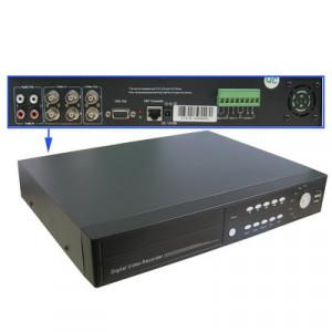 DVR autonome avec compression H.264, utilisation de la puce PHILIPS PNX 1701, disque dur SATA, prise en charge de 2 SATA HDD 500G X2, sortie VGA, entrée vidéo: 4 canaux, BNC (noir) SH20111298-20