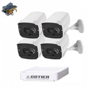 Kit caméra NVR pour caméra IP méga pixel COTIER N4B7-Mini / L 4 Ch 720P, vision nocturne / détection de mouvement, distance IR: 20 m SC35461393-20