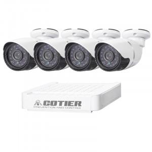 Kit caméra NVR pour caméra IP méga pixel COTIER N4B-Mini / L 4 Ch 720P, support de vision nocturne / détection de mouvement, distance IR: 20 m SC3547200-20