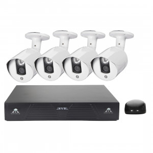 Kit NVR de caméra IP méga pixel COTIER N4B3M 4Ch 720P P2P ONVIF, support de vision nocturne / détection de mouvement, distance IR: 20m SC3551763-20