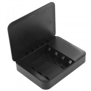 Chargeur portable avec batterie de poche USB 2.0, 4 piles AA, avec lampe de poche (noir) SH987B1989-20