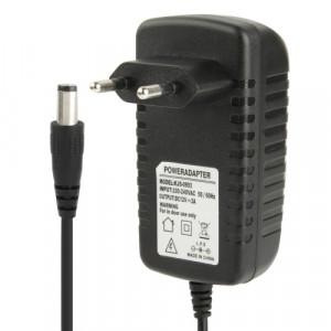 Adaptateur secteur de haute qualité EU Plug AC 100-240V à DC 12V 2A, embouts: 5,5 x 2,1 mm, longueur du câble: 1 m (noir) SH002A1616-20