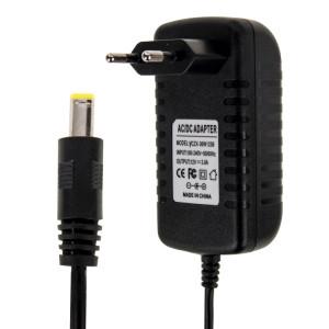 Adaptateur secteur UE Plug AC 100-240V à DC 12V 3A, embouts: 5,5 x 2,1 mm, longueur du câble: environ 1,2 m (noir) SH000B23-20