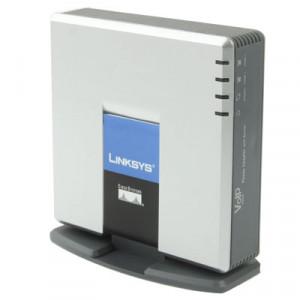 Débloqué LINKSYS SPA2102 VOIP PSTN Téléphone Adaptateur avec 2x FXS + WAN Port SU0107804-20