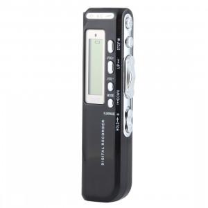 Lecteur MP3 Dictaphone Enregistreur vocal numérique de 4 Go, Enregistrement du téléphone de soutien, Fonction VOX (Noir) SH103B1502-20