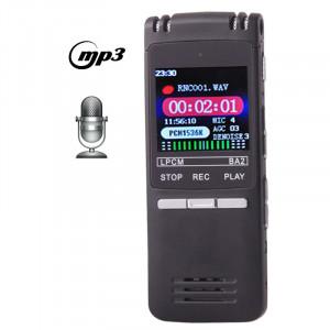 Enregistreur vocal numérique à affichage à cristaux liquides professionnel de 8 Go de VM202 avec le joueur de VOR MP3 (noir) SH0154506-20