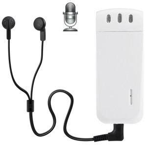 Enregistreur vocal numérique WR-16 Mini Professional 4 Go avec clip de ceinture, format d'enregistrement WAV de soutien (blanc) SH204W1727-20