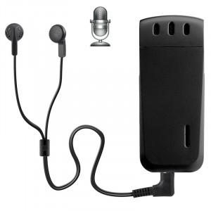Enregistreur vocal numérique WR-16 Mini Professional 8 Go avec clip ceinture, format d'enregistrement WAV support (noir) SH205B129-20