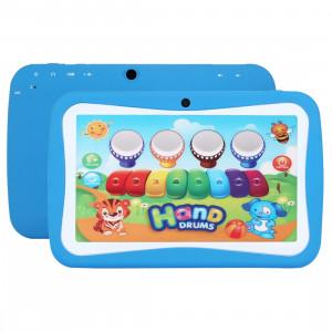 Tablet PC Éducation des enfants, 7,0 pouces, 512 Mo + 8 Go, Android 5.1 RK3126 Quad Core 1,3 GHz, WiFi, carte TF jusqu'à 32 Go, double caméra (bleu) ST68BE1796-20