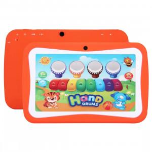 Tablet PC pour enfants, 7.0 pouces, 512 Mo + 8 Go, Android 5.1 RK3126 Quad Core 1.3GHz, WiFi, carte TF jusqu'à 32 Go, double caméra (Orange) ST368E12-20