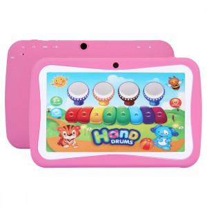 Tablet PC pour enfants, 7.0 pouces, 512 Mo + 8 Go, Android 5.1 RK3126 Quad Core 1.3GHz, WiFi, carte TF jusqu'à 32 Go, double caméra (rose) ST368F1971-20