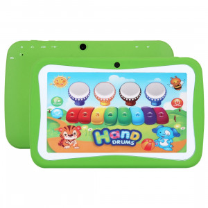 Tablet PC pour enfants, 7.0 pouces, 512 Mo + 8 Go, Android 5.1 RK3126 Quad Core 1.3GHz, WiFi, carte TF jusqu'à 32 Go, double caméra (vert) ST368G511-20