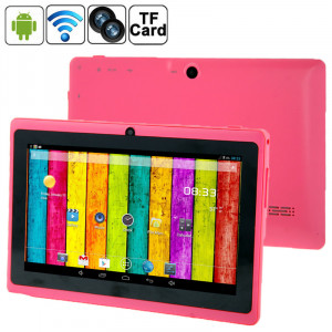 7,0 pouces Tablet PC, 512 Mo + 4 Go, Android 4.2.2, 360 degrés de rotation du menu, Allwinner A33 Quad-core, Bluetooth, WiFi (Magenta) S7588M53-20