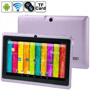7,0 pouces Tablet PC, 512 Mo + 4 Go, Android 4.2.2, 360 degrés de rotation du menu, Allwinner A33 Quad-core, Bluetooth, WiFi (violet) S7588P710-20
