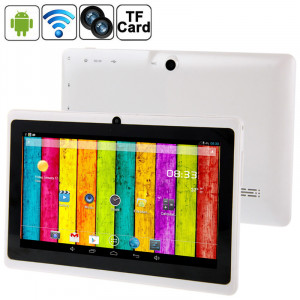 7,0 pouces Tablet PC, 512 Mo + 4 Go, Android 4.2.2, 360 degrés de rotation du menu, Allwinner A33 Quad-core, Bluetooth, WiFi (blanc) S7588W136-20