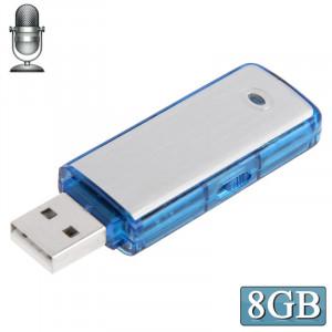 Enregistreur vocal USB + Disque flash USB de 8 Go (bleu) (bleu) SH2051853-20